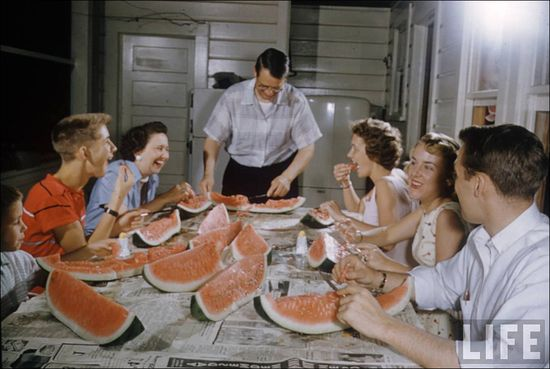 Margaret Bourke-White Greenville South Carolina White Folks Watermelon 1956 sml