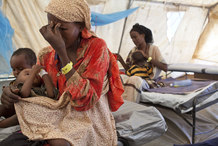 Brendan Bannon This mother of six traveled by foot from Somalia to Dadaab