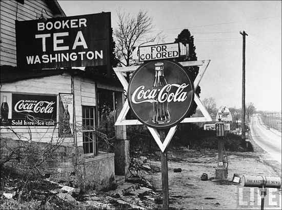Margaret Bourke-White For Colored Sign Elkridge MD 1938 sml
