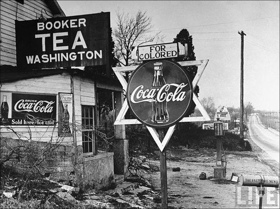 Margaret Bourke-White For Colored Sign Elkridge MD 1938 sml