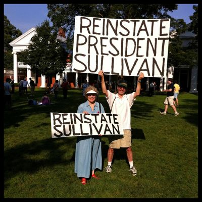 Mason UVA Sullivan Crisis Second Rally Sign