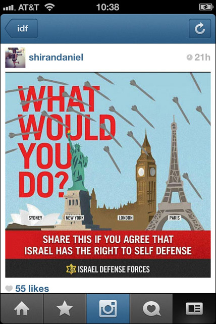 Instagram War Israel 04