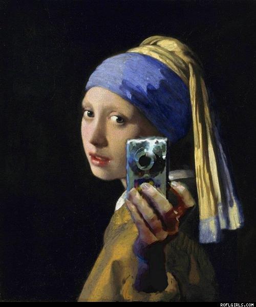Vermeer Girl Pearl Earring Selfie