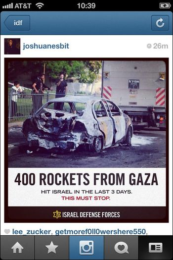 Instagram War Israel 07