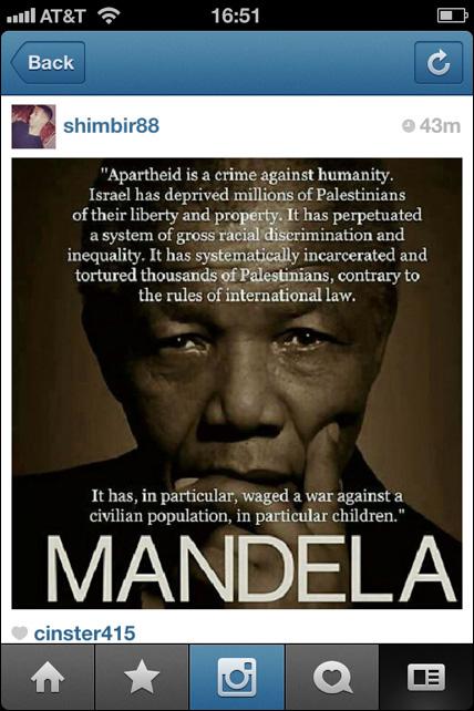Instagram Gaza Freeman Mandela