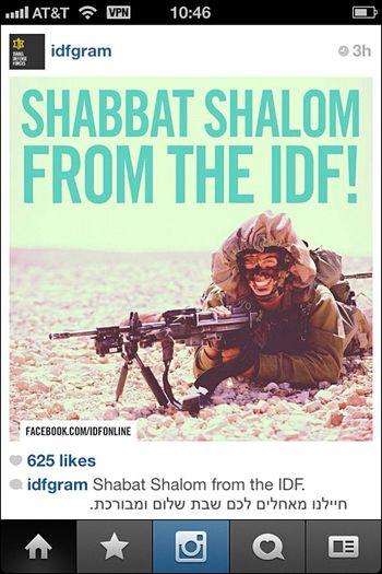 IDF Shabbat Shalom Instagram