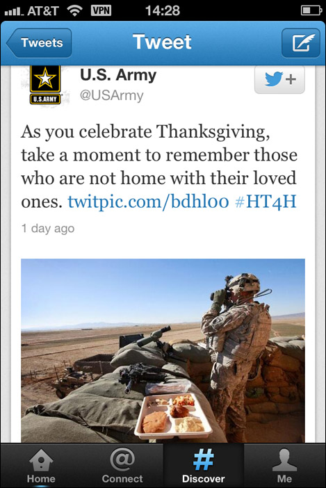 US Army Thanksgiving Twitter Pic sml