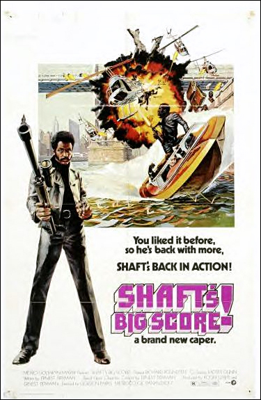 Shafts Big Score Original theatrical release poster by John Solie