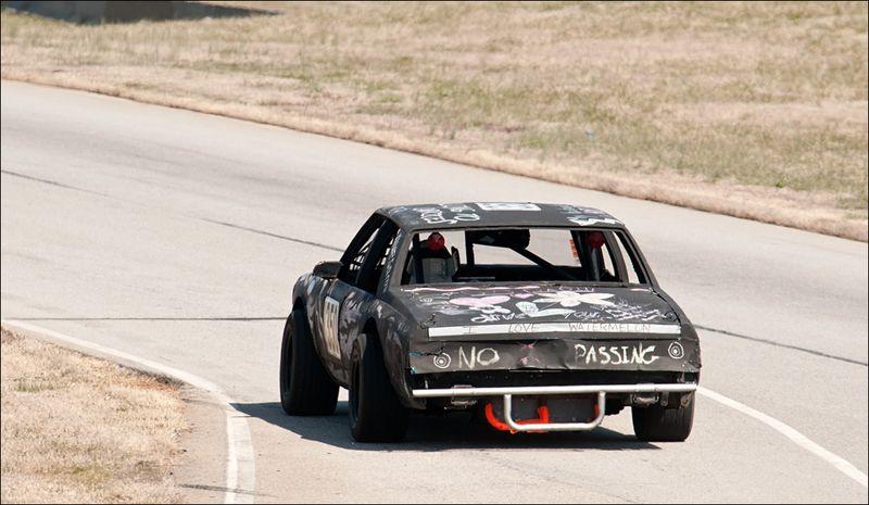 ChumpCar VIR 03 13 Mason Falling to Caprices Racing