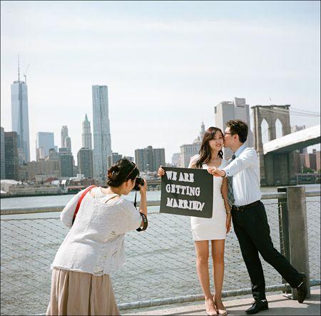 Brooklyn Bridge Engaged