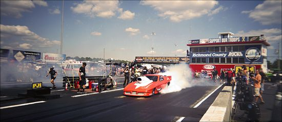 Mason ADRL Dragstock X Burnout 03-2 Holga Panoramic
