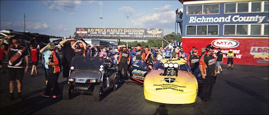 Mason ADRL Dragstock X Staging Lanes Holga Panoramic