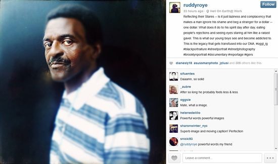 Ruddy Roye Instagram Screenshot
