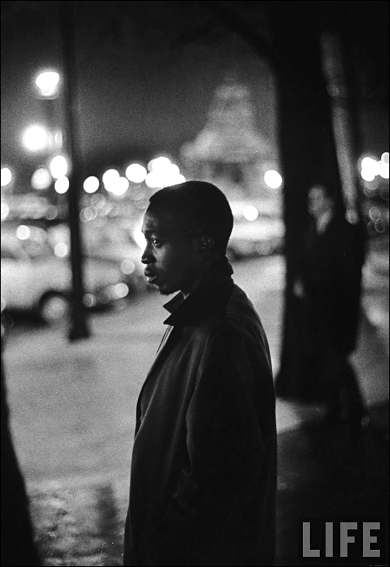 Ralph Crane Life Male african american outside US Embassy after assassination of John F Kennedy Paris 1963 sml