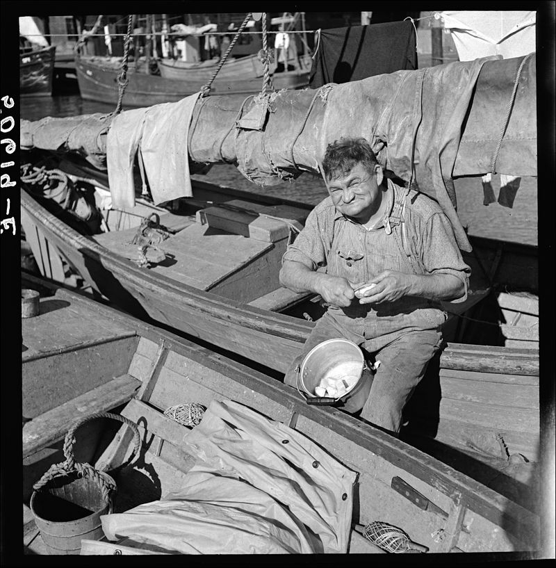 Marion Post Wolcott The cook on a fishing boat in Charleston South Carolina peeling potatoes for Christmas dinner 1938