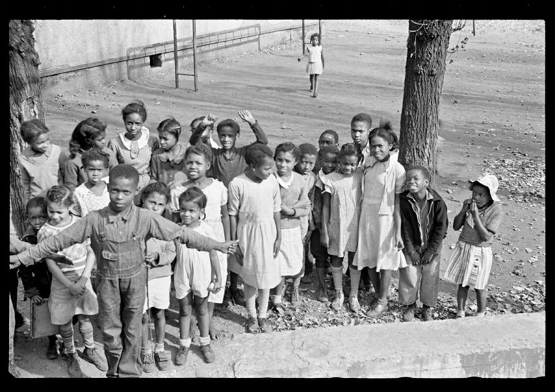 Ben Shahn FSA Negro School Children Omar West Virginia 1935-7