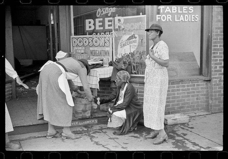 Marion Post Wolcott FSA Coal miners wives making ice cream to sell on Saturday afternoon after payday Osage West Virginia 1938-11