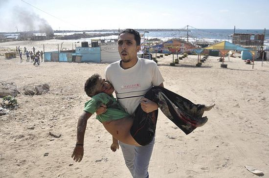 Gaza Four Boys Killed on Beach Reuters Mohammad Talatene 01