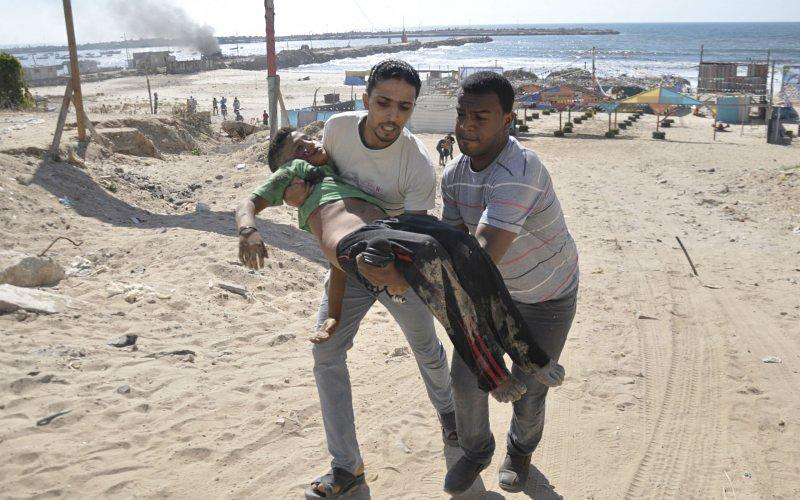 Gaza Four Boys Killed on Beach Reuters Mohammad Talatene 02