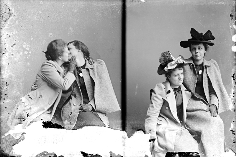 C M Bell Unidentified Group The Kissers between 1873 and ca 1916