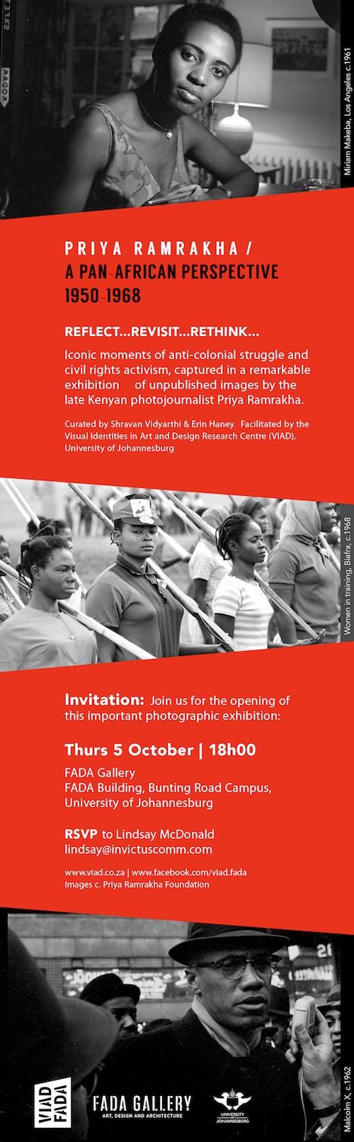 Priya Ramrakha FADA Gallery Johannesburg South Africa Flyer