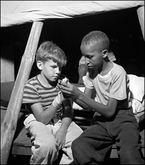 Gordon Parks Camp Nathan Hale Southfields NY First Aid Aug 1943
