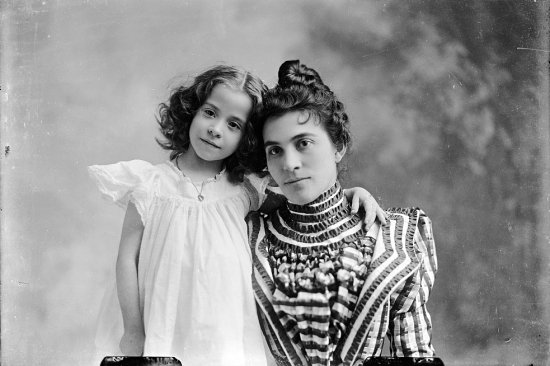 CM Bell Unidentified Mother and Daughter 1873 to 1916