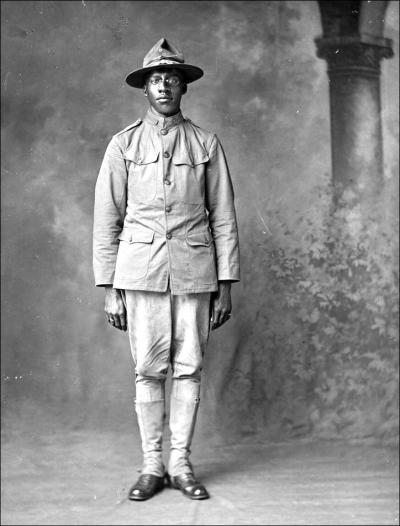 Holsinger Af Am Soldier Frank Robertson 1918