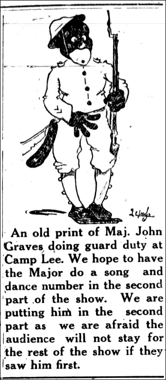 Daily Progress 26 January 1924 Elks Teaser Cartoon p 8